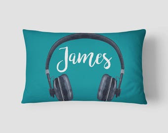 Personalised Name cushion Headphones