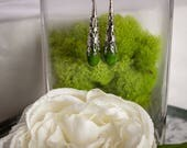 Green Jade Scepter Earrings