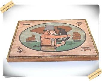 Folk Art Maritime Wood Sign