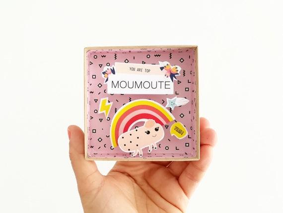 You are top moumoute message box (large) / Miniature Art / Diorama / 3d Art / Decorative Matchbox / Miniature paper diorama / Friendship