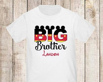 ON SALE Big Brother Mouse T-shirt Kids Big Brother Shirt