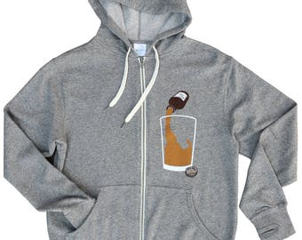 Idaho Local Brew Zip Hood -BANANA ink