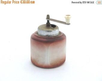 SALE 20% off Vintage coffee mill,Retro grinder shaded, Ceramic grinder, Hand coffee mill, Unique grinder ,Cottage kitchen