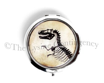 T-Rex Compact - Dinosaur Pocket Mirror - Tyrannosaurus Rex Mirror