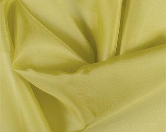 Chartreuse Silk Organza, Fabric By The Yard