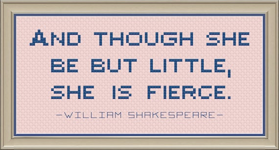 """William Shakespeare Quote Cross Stitch Pattern--""""And"""
