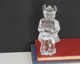 Vintage Pukeberg Glass Viking Paperweight