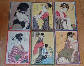 Vintage Geisha Girl Art Prints in Vintage Collection for sale in ONE LOT which can be used for many things and makes quit a statement