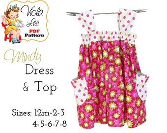 Girl's Dress Pattern, Girl's Sewing Pattern pdf. Girl's Top Pattern, Toddler Summer Dress Pattern. Toddler Dress Pattern. Download. Mindy