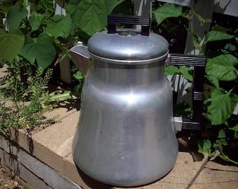 Vintage Wear Ever Aluminum Stove Top Percolator Model 3012 Coffee Pot