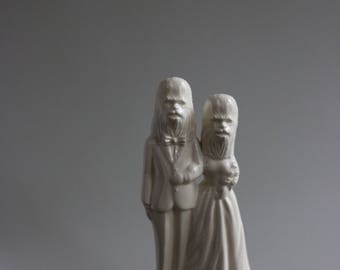 Wookie Wedding Cake Topper Couple star wars
