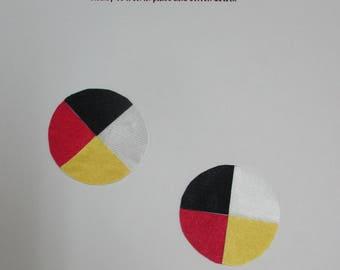 """2"""" medicine wheel appliqué, native american style,"""