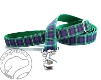 MacKenzie Clan Tartan Leash // Matching Tartan Dog Leash in all widths // Plaid Leashes // Tartan Lead // Handmade Leash