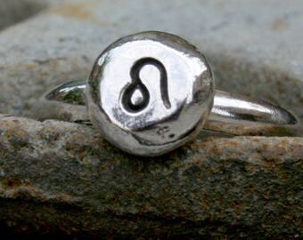 Custom Zodiac Ring - Sterling Silver Astrology Ring