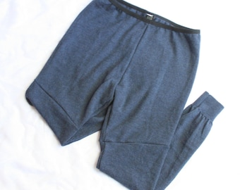 Wool Leggings in Dark Blue Size Large