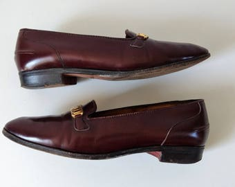 Vintage leather Church's loafers , leather slip ons flats, size 7.5