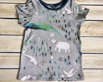 Organic Arctic Song T-Shirt Sizes 0-3 M-6Y