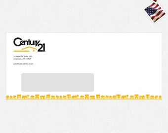 """standard envelopes (4.125""""x9.5"""") with or without a window - FREE design - full color front only - FREE UPS ground shipping"""