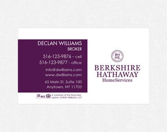 """Berkshire Hathaway business card magnets - 2""""x3.5""""- FREE UPS ground shipping"""