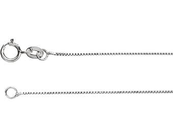 Sterling Silver 0.8mm Box Chain Necklace
