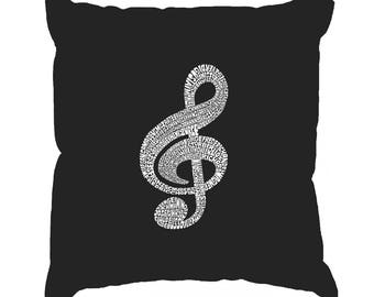 Throw Pillow Cover - Created using a list of the Most Popular Classical Music Composers of All Time Note