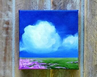ON SALE Oil painting, landscape, cloud painting, home decor, wall art - Stormscape series seventyone