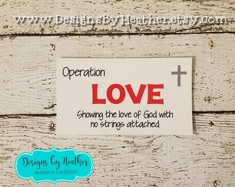 10 Operation Love Cards -  Operation Love Campaign