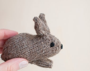 knitted bunny, easter bunny, rabbit knitted rabbit, cute bunny, knit toys,  brown bunny