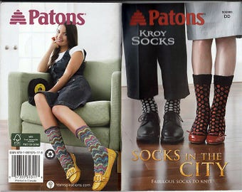 Socks in the City Fabulous socks to Knit Pattern Booklet Patons 500869