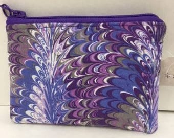 Small Zippered Purple Coin Purse