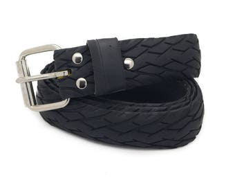 """Bicycle Tire Belt """"NO LOGO 40mm"""" (upcycled vegan handmade) by tirebelt.com - Fall Collection 2016"""