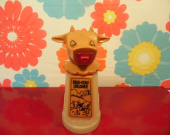 Vintage Plastic Cow Creamer - Moo Cow Creamer - Whirley Industries