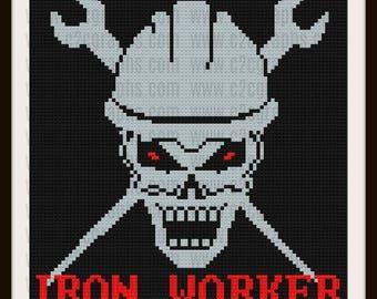 Iron Worker C2C Graph, Iron Worker, Iron Worker Afghan, Iron Worker Crochet Pattern