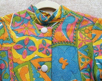 Ultra Mod 1960s vintage psychedelic lurex dress
