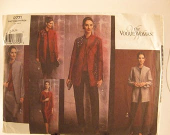 The Vogue Woman Sewing Pattern 2771 Misses' Petite sz 14-16-18 Jacket, Top, Skirt & Pants [L21]