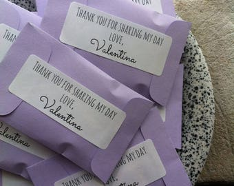 Purple Rustic Wedding Favors Set of 25 or More Colors Scents Labels Personalization Sachets Seed Packets Rustic Favors Mini Thank Guests