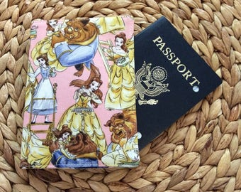 Beauty and the Beast Disney Passport Cover Holder, International Travel, Passport Case Protector, Study Abroad Gift, European Vacation