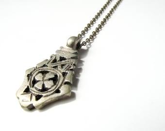 Ethiopian Cross Necklace - Coptic Cross Pendant on Brass Alloy Chain - Coptic Cross Necklace - Christian Cross - African Cross Jewelry