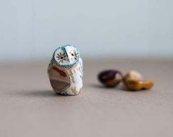 Sacred Owl Totem: Mookaite Jasper