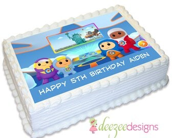 Go Jetters A4 Edible Icing Cake Topper