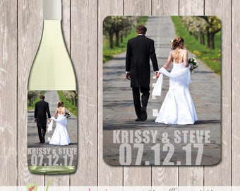Wine Bottle Labels for Wedding - YOU PRINT - WINB003