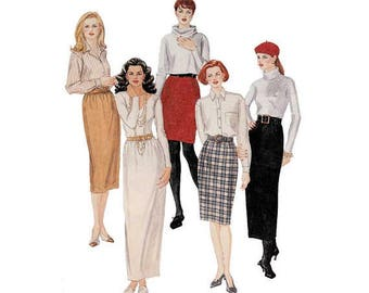 McCalls Pattern 7278 Size 10-12-14 Cut & Complete 5 Skirts