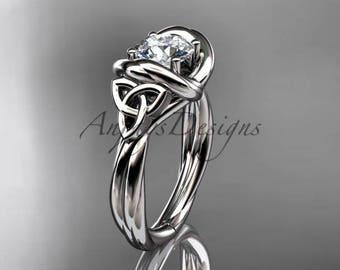 Platinum trinity celtic twisted rope wedding ring RPCT9146