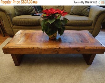 """Limited Time Sale 10% OFF Custom Old Growth Coffee Table - 4 inch thick top 28"""" x 28""""x 20"""""""
