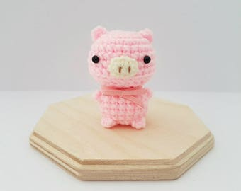 Crochet Pink Pig, Crochet Mini Piglet, Crochet Piglet Amigurumi, Amigurumi Pig, Pink Piglet, Plush Piglet, Farm Animal Plush Toy