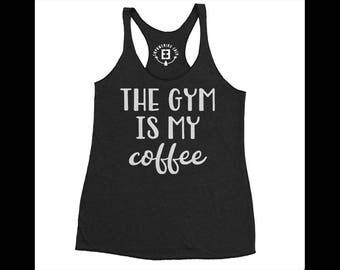 Workout Tank Top - Gym Tank Top - Womens Coffee Shirt  - Motivational Shirt - Morning Workout Tank - Fit Gifts