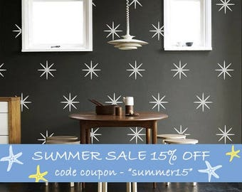 "Bright Stars 4.5"" Vinyl Wall Decals Kit Of 40 Bright Stars, Kids, Nursery, Home And Office Decoration- ID663"