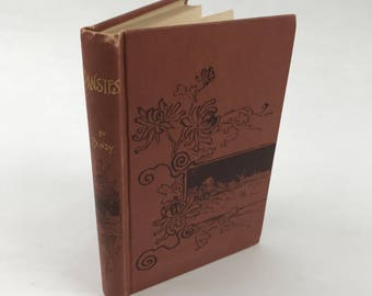 Antique Children's Book - Pansies And Other Stories by Pansy - 1880's - Illustrated Religious Book - Very Rare - Sunday School Book