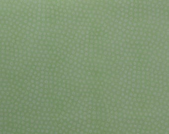 Cotton Quilting Fabric, Green Fabric, Tiny Print Fabric, Cotton Fabric, Sewing Fabric Remnant, Daisy Fabric - 1 Yard - CFL2333