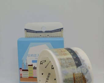 Illustrated Scandinavian Buildings Patterned Washi Tape